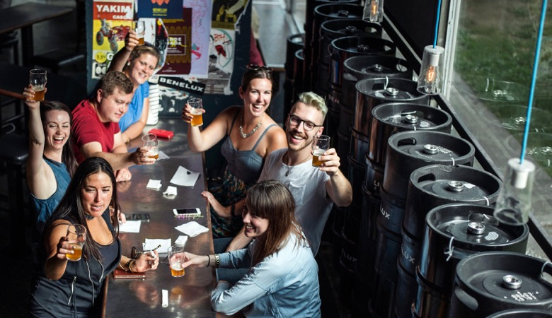 Montreal craft beer tour group activity