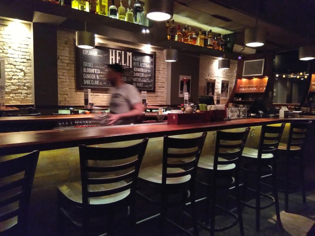 interior bar of helm - best brewpubs in montreal